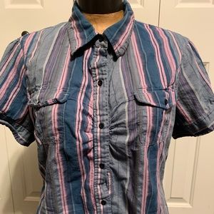North Face Button Up Blouse Womens XL